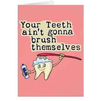 Cartes Vous dents Aint allant se balayer