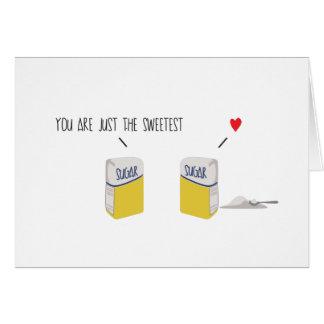 Cartes Vous êtes juste le *Love* de sacs de sucre le plus