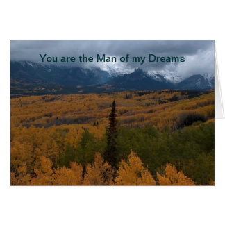 Cartes Vous êtes l'homme de mes rêves