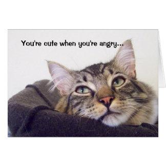 Cartes Vous êtes mignons quand vous êtes fâchés…
