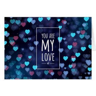 Cartes Vous êtes mon amour, Valentine
