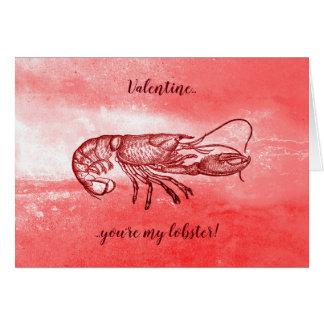 Cartes Vous êtes mon homard Valentine vilain