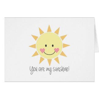 Cartes Vous êtes mon soleil !