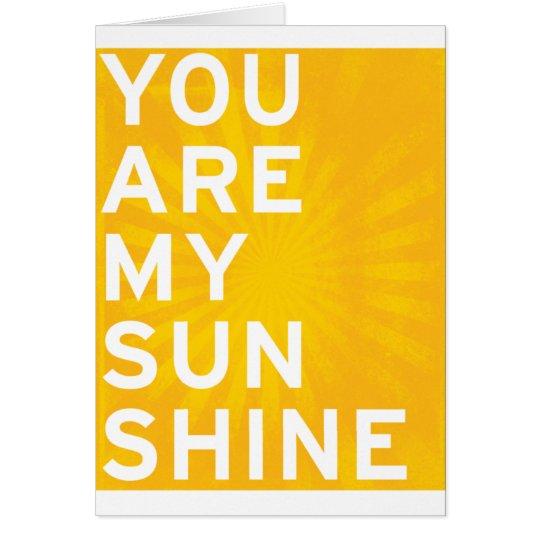 Cartes Vous êtes mon soleil (le jaune de soleil)