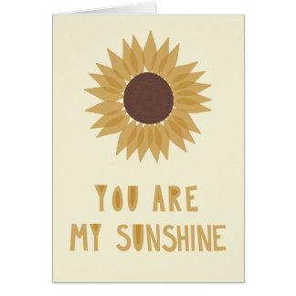 Cartes Vous êtes mon soleil - MASQUEZ à l'intérieur