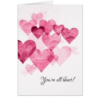 Cartes Vous êtes tous Coeur-Vous remerciez de carder
