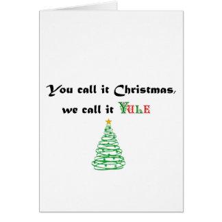 Cartes Vous l'appelez Noël, nous l'appelez Noël