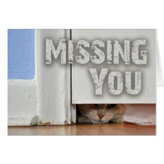 Cartes Vous manquer jetant un coup d'oeil Kitty