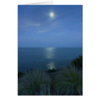 Cartes Vous manquer par clair de lune