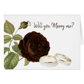 Cartes Vous m'épouserez, brun chocolat vous êtes levés