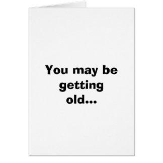 Cartes Vous pouvez vieillir…
