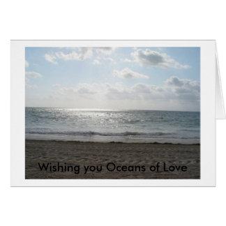 Cartes Vous souhaitant des océans de l'amour