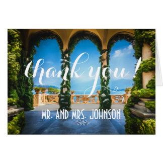Cartes Voûtes de note élégante de Merci de l'Italie