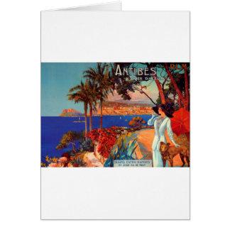 Cartes Voyage vintage d'Antibes Cote d'Azur