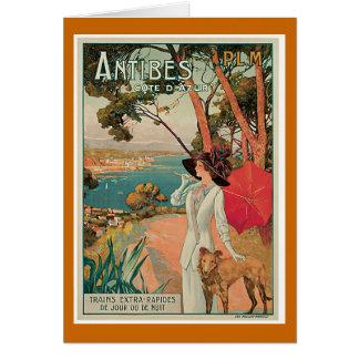 Cartes Voyage vintage d'Antibes, France
