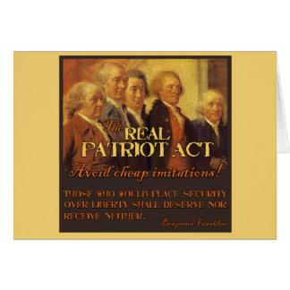 Cartes Vrai Patriot Act, les pères fondateurs