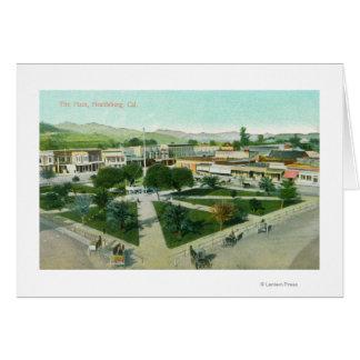 Cartes Vue aérienne de la ville PlazaHealdsburg, CA