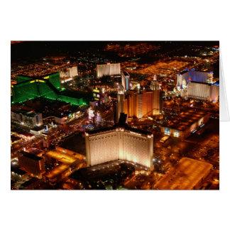 Cartes Vue aérienne de Las Vegas d'un dirigeable souple