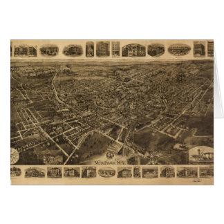 Cartes Vue aérienne de Middletown, New York (1921)