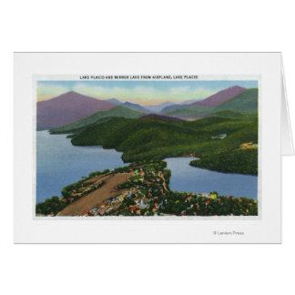 Cartes Vue aérienne des lacs placides et du miroir