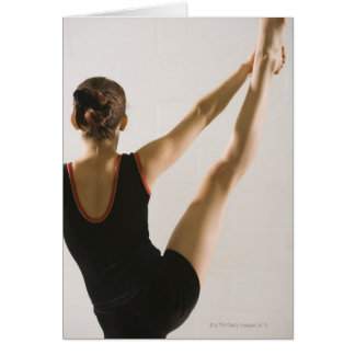Cartes Vue arrière de gymnaste flexible