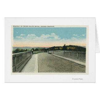 Cartes Vue creuse de chaussée de pont de Traver