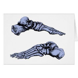 Cartes Vue de côté des os des pieds - profondément bleu