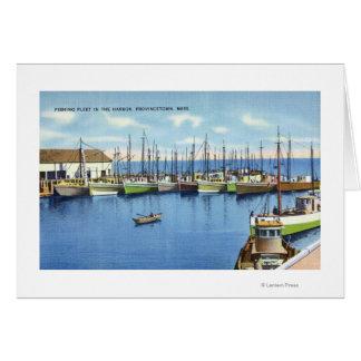 Cartes Vue de flotte de pêche dans le port