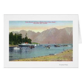 Cartes Vue de Howe Sound de vapeur des syndicats à l'île