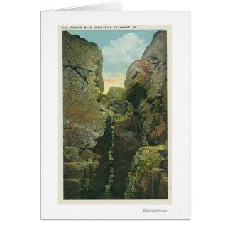 Cartes Vue de la crevasse de falaise de tête chauve