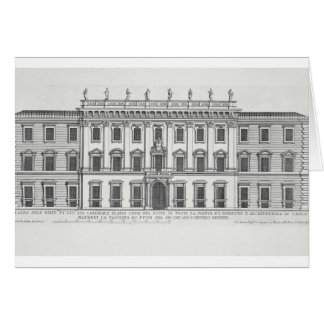Cartes Vue de la façade de Palazzo Chigi, Rome, designe