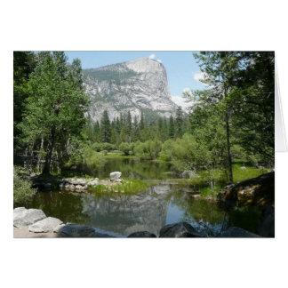 Cartes Vue de lac mirror en parc national de Yosemite
