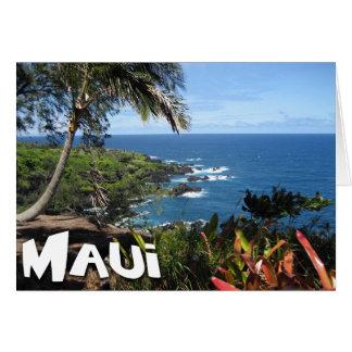 Cartes Vue de Maui - paradis tropical