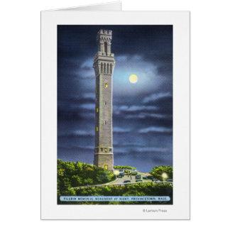 Cartes Vue de mémorial de pèlerin la nuit