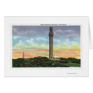 Cartes Vue de monument de mémorial de pèlerin de