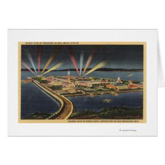 Cartes Vue de nuit d'île de trésor, expo d'Internat'l