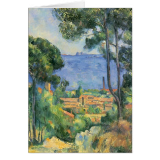 Cartes Vue de Paul Cezanne- de d'If de L'Estaque et de
