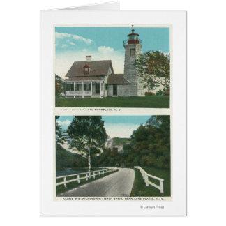 Cartes Vue de phare de Champlain de lac