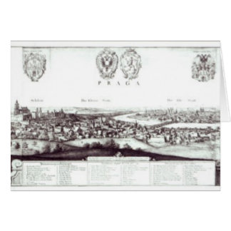 Cartes Vue de Prague, 1649