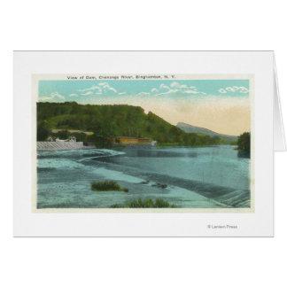 Cartes Vue de rivière et de barrage de Chenango