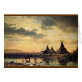 Cartes Vue de roche de cheminée par Albert Bierstadt