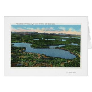 Cartes Vue de route d'étang de chapelle près de vallée de