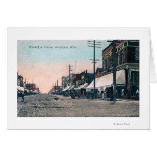 Cartes Vue de rue d'avenue de Wenatchee