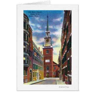 Cartes Vue de rue de Salem de vieux bâtiment du nord