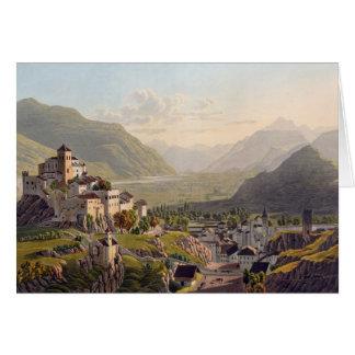 Cartes Vue de Sion, illustration de 'voyage Pittoresqu