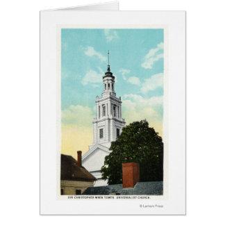Cartes Vue de tour de monsieur Christopher Wren