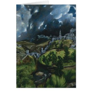 Cartes Vue d'El Greco de Toledo