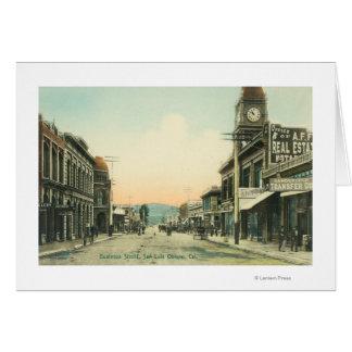 Cartes Vue des affaires StreetSan Luis Obispo, CA