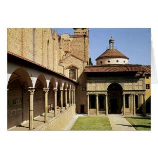 Cartes Vue des cloîtres et de la chapelle de Pazzi