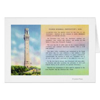 Cartes Vue d'information commémorative et brève de